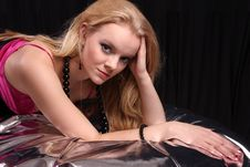 Free Fashion Model In Studio Royalty Free Stock Photography - 8456717