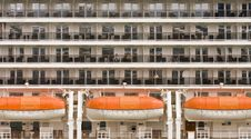 Balconies And Lifeboats Stock Images