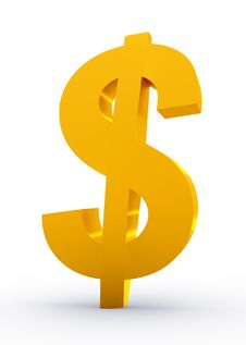 Free Golden Dollar Sign Stock Photography - 8457092