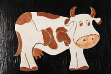 Free Puzzle Cow Stock Photo - 8457380