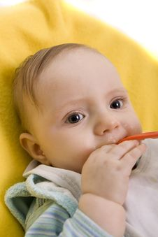 Free Eating Baby Royalty Free Stock Photography - 8457517