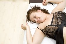 Free Woman In Bed Royalty Free Stock Images - 8457539