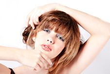 Free Portrait Of A Young Cute Girl Looking Pretty Royalty Free Stock Photos - 8457748