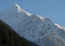 Lofty Winter Mountain Royalty Free Stock Images