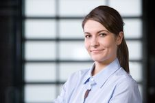 Free Business Woman Portrait In A Modern Office Stock Image - 8458101