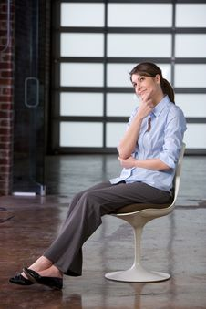 Free Business Woman Thinking Stock Images - 8458254