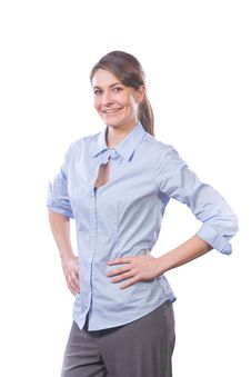 Business Woman Hands On Hips Stock Photos
