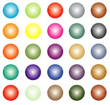 Free Colour Buttons Stock Image - 8458571