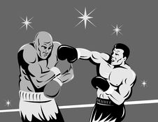 Free Boxer Connecting A Knockout Royalty Free Stock Photos - 8458858