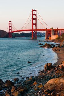 Free Golden Gate Bridge At Sunset Royalty Free Stock Photo - 8458895