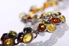 Bracelet From Amber Royalty Free Stock Photography