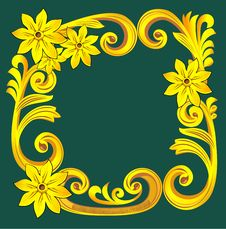 Free Floral Frame Royalty Free Stock Photography - 8459157