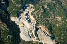 Stone Quarry, Aerial View. Stock Photo