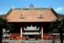 Pengzhou, China: Shi Fo Buddhist Temple Royalty Free Stock Images