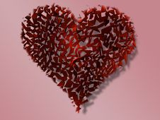 Shuttered Heart Royalty Free Stock Images