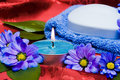 Free Soap, Towel And Candle Stock Image - 8466441