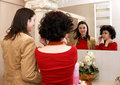 Free Friends In Front Of A Mirror Royalty Free Stock Photo - 8467205