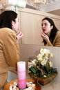 Free Young Woman In Front Of A Mirror Royalty Free Stock Photos - 8467278