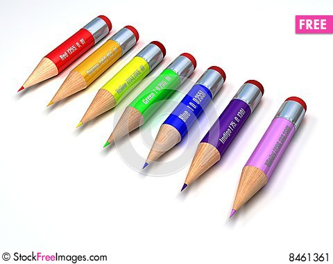 Free Color Pencils Stock Image - 8461361