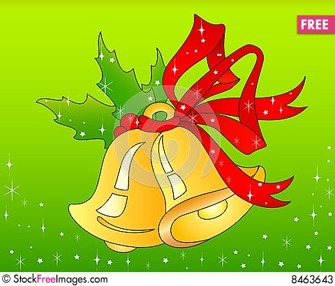 Christmas hand bells Stock Photo