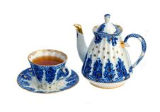 Free Cup With Teapot Stock Image - 8460311