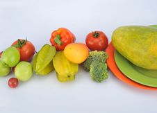 Free Fruits And Vegetables Stock Photography - 8460392