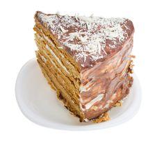 Free Close-up Piece Of Home Made Honey Cake Stock Photography - 8460842