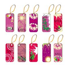 Free Pink Tags Royalty Free Stock Photos - 8460908