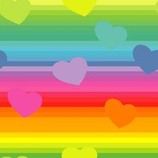 Free Seamless Valentine Pattern Royalty Free Stock Photo - 8461255