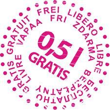 Free Sale Stamp Gratis Royalty Free Stock Photos - 8461258