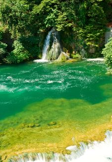 Free Beautiful Forest Waterfall Stock Image - 8461761