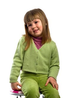 Free Sitting Young Girl Stock Photos - 8461953