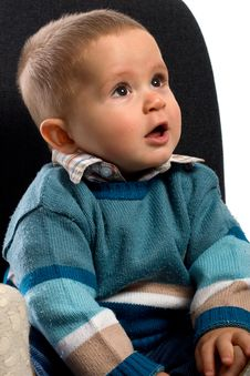 Free Sitting Smile Young Boy Stock Photos - 8462013