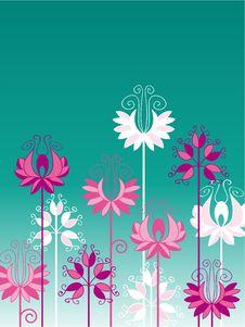 Free Beautiful Flowers On Turquoise Background Stock Photo - 8462060