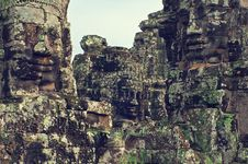 Angkor Wat (Bayon Temple) Royalty Free Stock Photography