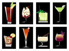 Free Cocktails3 Royalty Free Stock Photos - 8463028