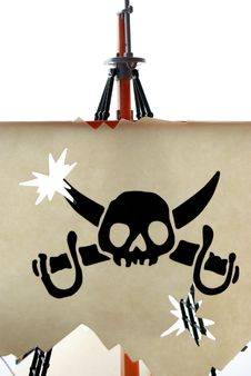 Skull Symbol Of Pirates Stock Images