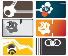 Set Of Business Cards Stock Image