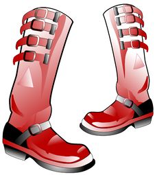 Red High Boots Royalty Free Stock Photos