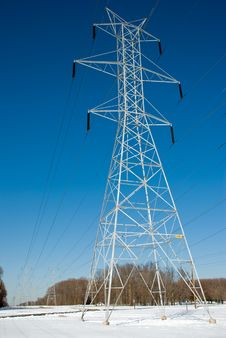 Free Power Line Tower Royalty Free Stock Image - 8464976