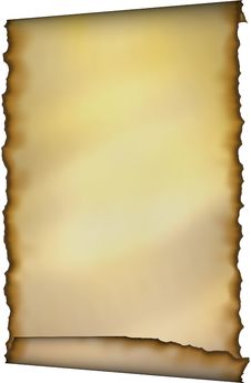 Old Scroll With Burnt Edges Royalty Free Stock Photo