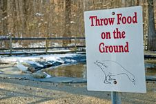 Free Duck And Geese Feeding Sign Stock Photo - 8465090