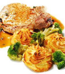 Free Pork Brisket With Potato Stock Photos - 8465383
