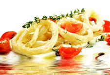 Free Salad With Calamari Rings And Tomato Stock Images - 8465564