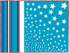 Vector Frame With Flowers USA Flag Royalty Free Stock Photo