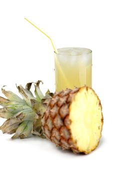 Free Pineapple And Juice Of Pineapple Stock Images - 8466304