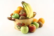 Free A Fruit Basket Surrounded By Other Fruits Royalty Free Stock Photos - 8466368