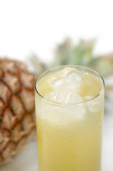 Pineapple And Juice Of Pineapple Royalty Free Stock Images