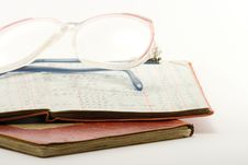 Free Ledgers And Glasses Stock Photo - 8466820