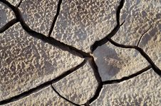 Craked Mud By Drought Royalty Free Stock Images